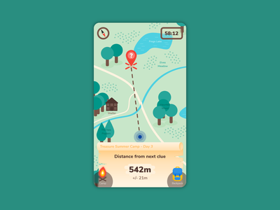 Daily UI #020 : Location Tracker location tracker game treasure app icon vector illustration app design adobe xd 3petitspixels challenge dailyui