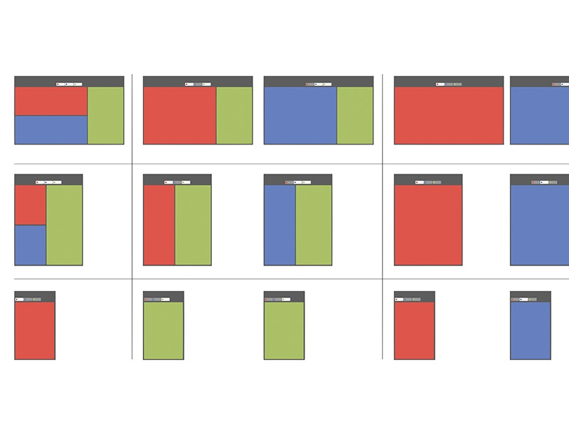 Responsive/Dynamic Layout Diagram wireframe layout responsive
