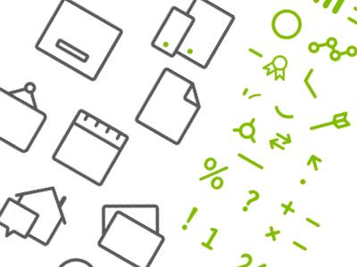 Visual Language Abstraction visual language abstraction icons