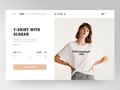 Zara Shop Website item ecofriendly fashion art fashion brand fashion luxury clean layout item card ecomerce shop design website shop minimalistic ux ui zara clean  creative minimal product