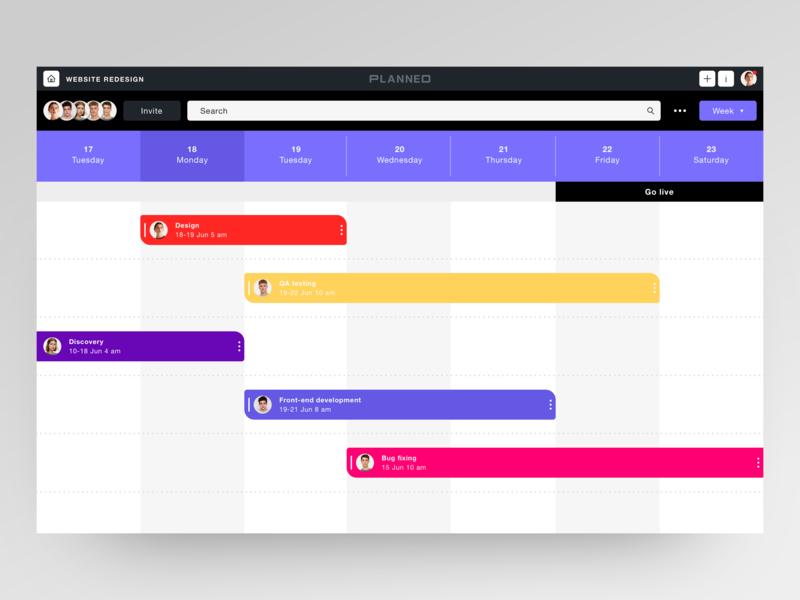 Planneo minimalism item management information system colorful management system management tool tool management app management planner layout clean time management timeline minimalistic ux ui product minimal clean  creative
