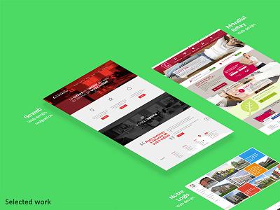 Selected work porfolio webdesign front-dev web agency rotate mockup skew css3