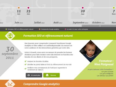 Timeline slider webdesign responsive rhombus shape