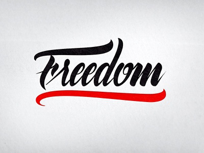 Lettering Freedom lettering logotype hand lettering type font calligraphy