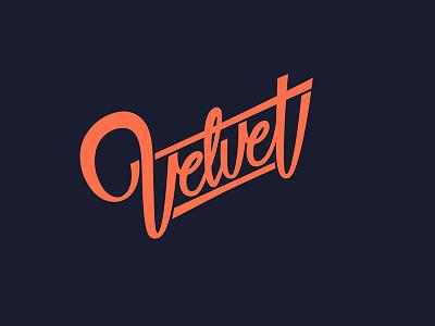 lettering Velvet lettering logotype hand lettering type font calligraphy