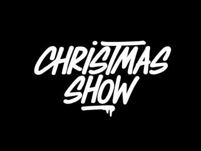 Lettering Christmas Show Atelier Des Bains lettering logotype hand lettering type font calligraphy