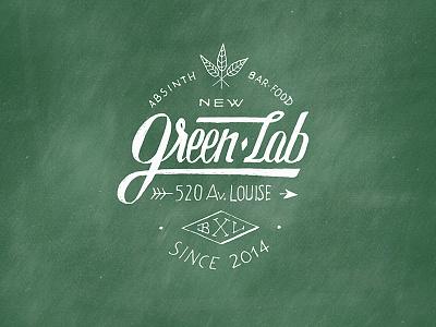 Greenlab logotype v2 - Absinth Gin Bar & Food font logo logotype hand lettering lettering script calligraphy