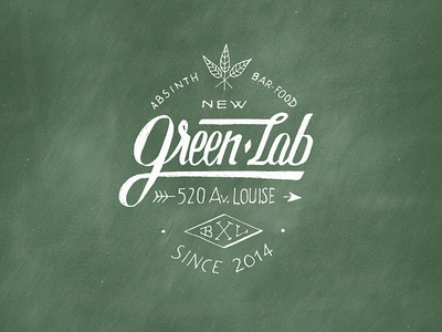 Greenlab logotype v2 - Absinth Gin Bar & Food font logo logotype hand lettering lettering script calligraphy