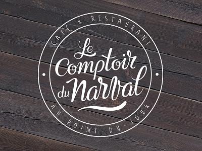 Le Comptoir du Narval font logo logotype hand lettering lettering script calligraphy