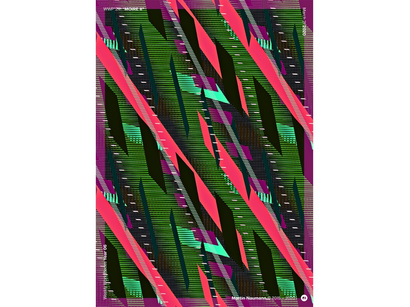 "WWP°241 ""MOiRE II"" moire poster illustration pattern wwp generative filter forge abstract art design"