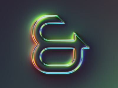 ampersand 2 - 36 days of type #07 glow neon sign lettering illustration 36daysoftype typography generative filter forge abstract art design