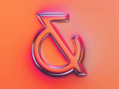 Ampersand 3 - 36 days of type #07 ampersand type design lettering illustration 36daysoftype colors typography generative filter forge abstract art design