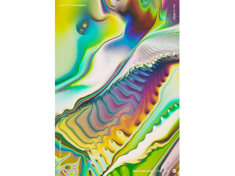 "WWP°248 ""Terrainbow"" poster design poster illustration colors generative filter forge abstract art design wwp"