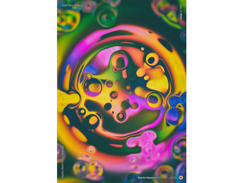 "WWP°250 ""Calor"" virus bubbles illustration colors wwp generative filter forge abstract art design"