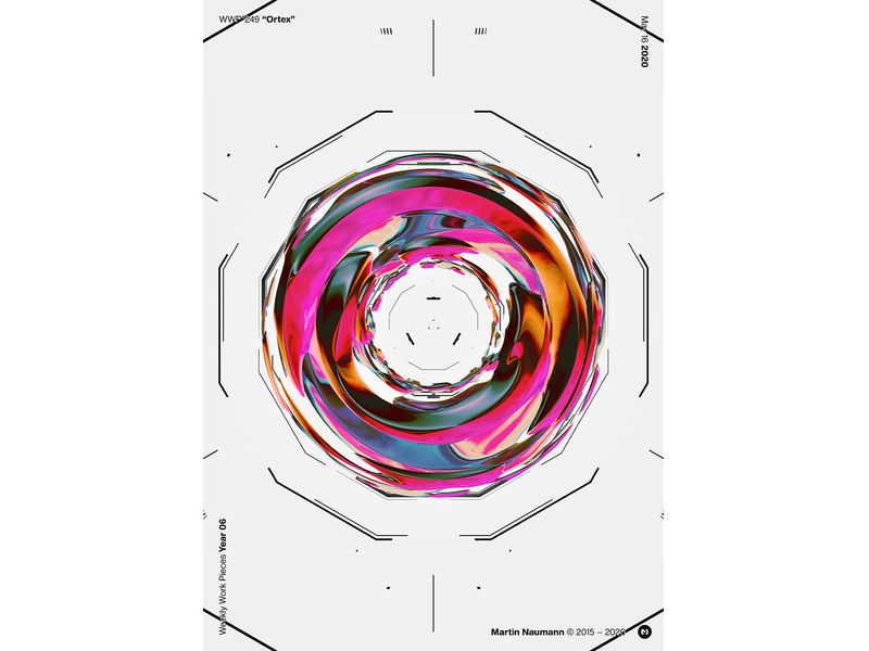 "WWP°249 ""Ortex"" geometric illustration wwp generative filter forge abstract art design"
