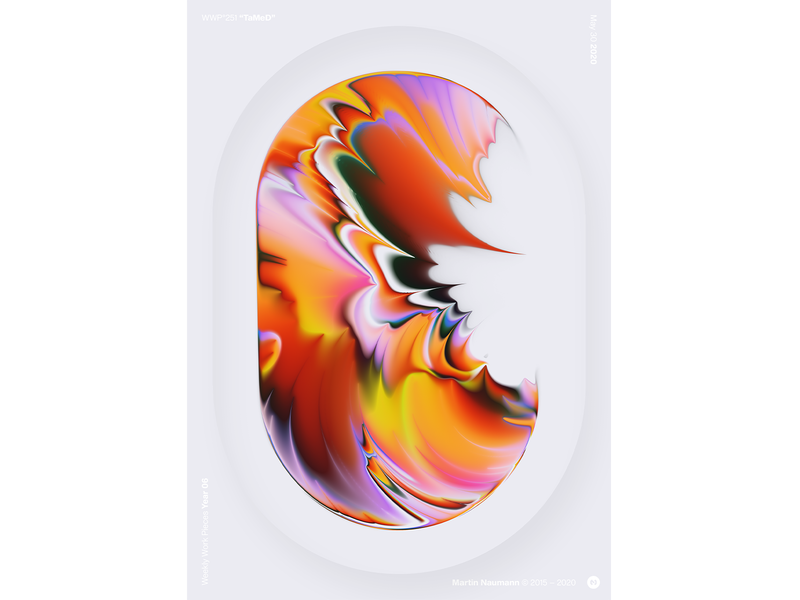 "WWP°251 ""TaMeD"" poster illustration colors wwp generative filter forge abstract art design"