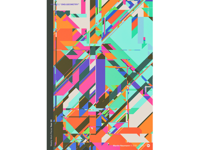 """WWP°253 """"2ND.GEOMETRY"""" geometric pattern illustration colors wwp generative filter forge abstract art design"""