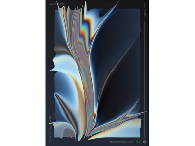 """WWP°255 """"C°S"""" holographic poster dark spectrum iridescent illustration colors wwp generative filter forge abstract art design"""