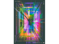 """WWP°258 """"p[ ]rtal"""" poster neon light neon pattern geometric illustration colors generative filter forge abstract art design wwp"""
