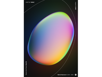 """WWP°261 """"MNRL"""" poster gradient vibrant reflection bubble illustration colors wwp generative filter forge abstract art design"""