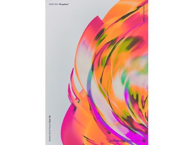 "WWP°265 ""Eruption"" poster design flare solar poster eruption illustration colors wwp generative filter forge abstract art design"