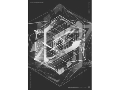 """WWP°268 """"Tesseract"""" 4d dices poster black and white black white hexagon geometry dice cube tesseract geometric art pattern geometric illustration wwp generative filter forge abstract art design"""
