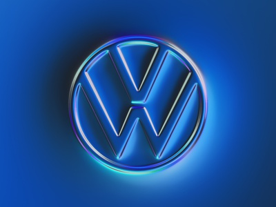 36 logos - Volkswagen logo design emboss blue rebrand logotype rebranding logo metallic 36daysoftype typography illustration generative filter forge abstract art design colors