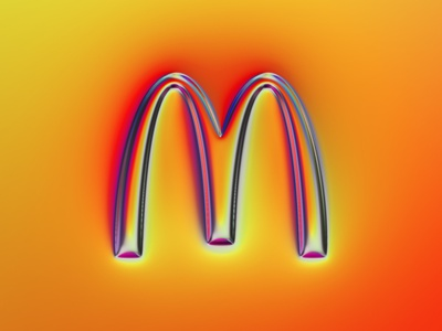 36 logos - McDonald's logo logotype rebranding rebrand logo design logos 36daysoftype typography illustration colors wwp generative filter forge abstract art design