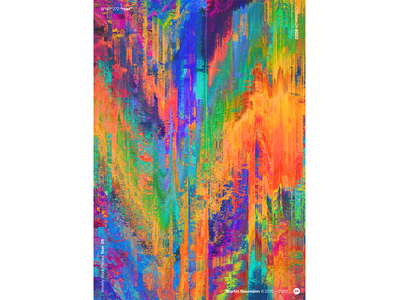 "WWP°272 ""bl-nk"" rust colorful distortion illustration wwp colors generative filter forge abstract art design"