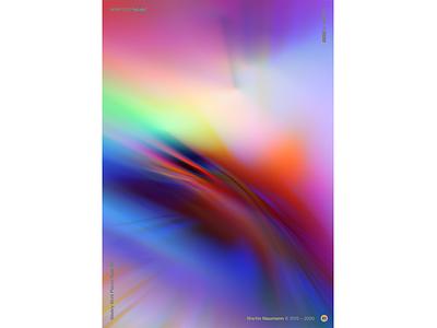 "WWP°273 ""bl-nk"" lights blurry rainbow aberration poster prism light blur spectrum chromatic aberration chromatic illustration wwp colors generative filter forge abstract art design"