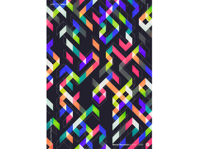 """WWP°276 """"SMLSS"""" seamless weekly work pieces poster illustration geometric pattern wwp colors generative filter forge abstract art design"""
