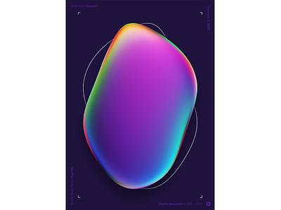 "WWP°279 ""blurple"" baugasm poster mineral bubble opale purple blue blurple illustration colors generative filter forge abstract art design wwp"