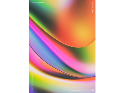 """WWP°280 """"ASCENT"""" prism colorful aberration chromatic illustration wwp colors generative filter forge abstract art design"""