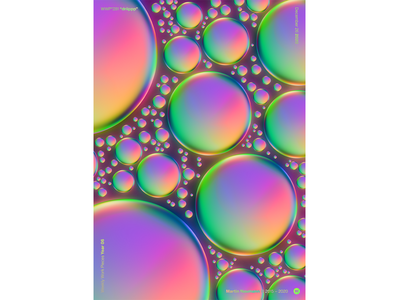 """WWP°281 """"driippp"""" bubbles drip raindrops illustration wwp colors generative filter forge abstract art design"""