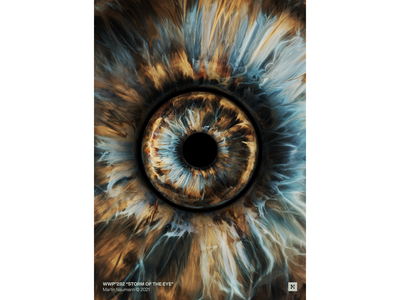 "WWP°282 ""Storm of the Eye"" geometric mystic eye catching pupil storm eyeball iris eye illustration wwp colors generative filter forge abstract art design"