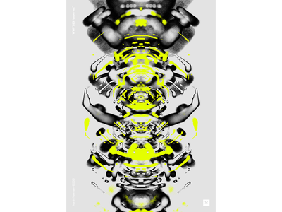 """WWP°283 """"doom out"""" analog hud symmetry rough pattern colors generative filter forge abstract art design"""