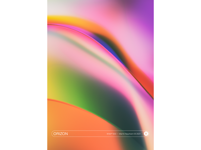"""WWP°300 """"Orizon"""" poster design ui gradient soft vibrant poster wwp illustration colors generative filter forge abstract art design"""