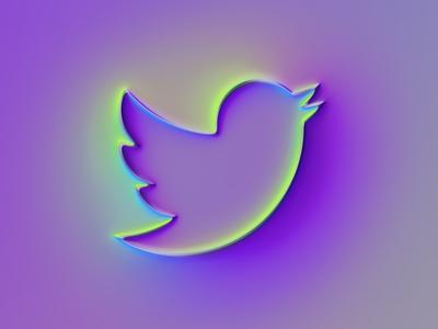 Twitter Logo x Super-Neumorphism #1 concept rebrand brand twitter logo neumorphism twitter branding ui logo illustration colors generative filter forge abstract art design