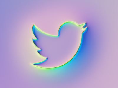 Twitter Logo x Super-Neumorphism #3 neumorphism rebrand brand branding ui logo illustration colors generative filter forge abstract art design