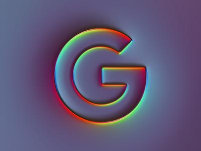 Google Logo x Super-Neumorphism #1 google neumorphism ui ux ux branding ui logo illustration colors generative filter forge abstract art design