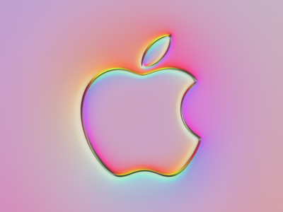 Apple Logo x Super-Neumorphism #1 vibrant soft gradient button ui design apple logo apple ux neumorphism graphic design branding ui logo illustration colors generative filter forge abstract art design