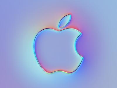 Apple Logo x Super-Neumorphism #3 ui ux ux ui design rebranding rebrand brand neumorphism branding ui logo illustration colors generative filter forge abstract art design