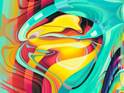 PHASE II (details) illustration colors generative filter forge abstract art design