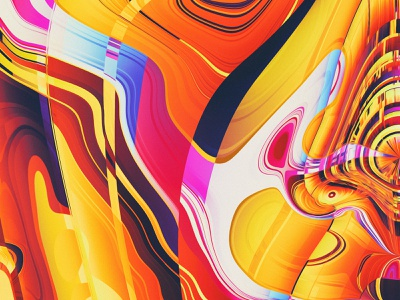 PHASE V (details) pattern gltich yellow face phases illustration colors generative filter forge abstract art design