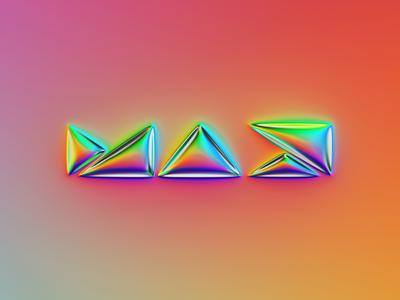 Adobe MAX logo x Naumorphism metallic glow neon neumorphism chrome logodesign mark brand rebranding rebrand branding logo illustration colors generative filter forge abstract art design