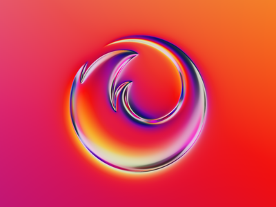Firefox logo x Naumorphism brand rebranding rebrand chrome type chrome metallic glow fire gradient logodesign firefox branding logo illustration colors generative filter forge abstract art design