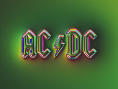 ACDC logo x Naumorphism glow chrome acdc rebranding rebrand neumorphism branding logo illustration colors generative filter forge abstract art design