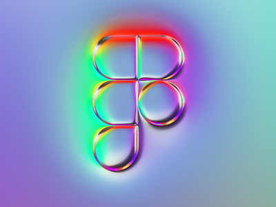 Figma logo x Naumorphism rebranding rebrand ui design ux light reflection glow neon chrome ui figma branding logo illustration colors generative filter forge abstract art design