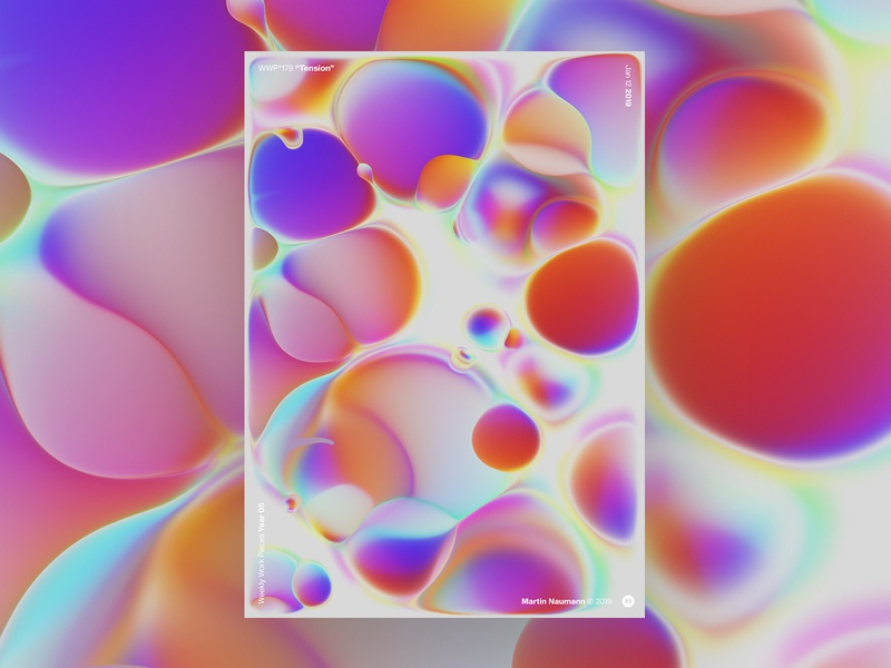 """WWP°179 """"Tension"""" lavalamp bubbles illustration pattern geometric colors generative filter forge wwp art abstract design"""
