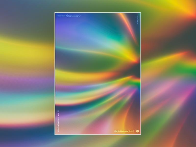 "WWP°207 ""Chromosphere"" pulse prism energy flash plasma spectrum chroma chromatic aberration colors wwp generative filter forge abstract art design"